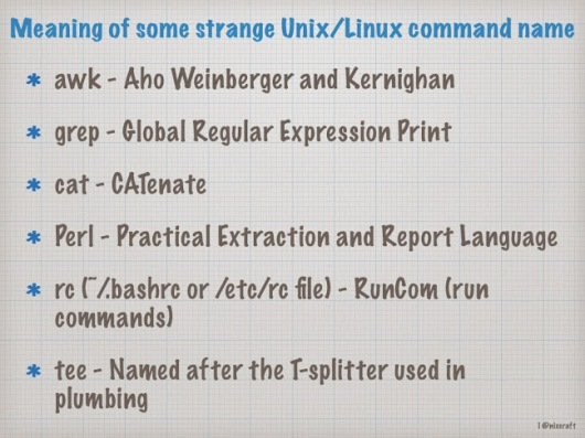 meaning of strange unix-linux command names.001