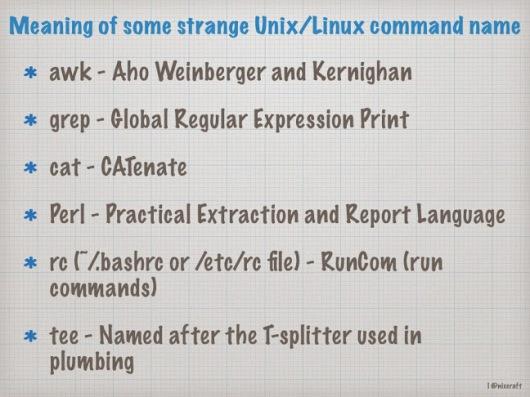 meaning of strange unix-linux command names.001