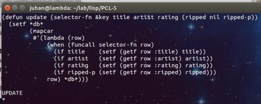 Lisp – un DB semplice – 4 | Ok, panico