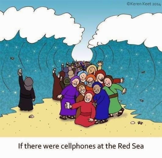 cellphones at the red sea