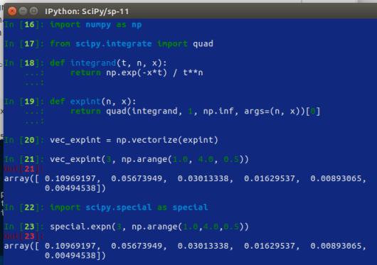 SciPy – 11 – integrazione – 1 | Ok, panico